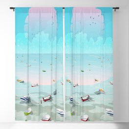 Between two waters Blackout Curtain