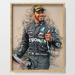 Lewis Hamilton Serving Tray