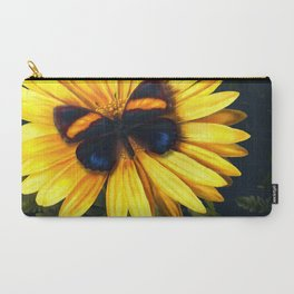 Butterfly on yellow Carry-All Pouch