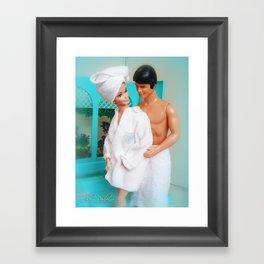 Barbie and Ken in the bathroom.  06 Framed Art Print