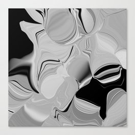 abstract in hazy grays Canvas Print