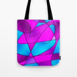 ABSTRACT CURVES #2 (Purples, Violets, Fuchsias & Turquoises) Tote Bag