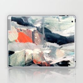 Eye of the Storm [2] - abstract mixed media piece in blues, white, and red Laptop & iPad Skin