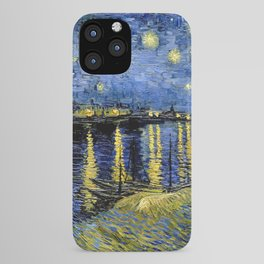Van Gogh Starry Night Over the Rhône iPhone Case