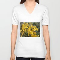 marc johns V-neck T-shirts featuring Beautiful St Johns Wort by Wendy Townrow