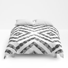 Grey Checkered Paattern Comforters