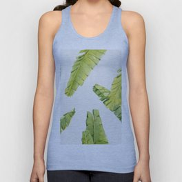 Tropical Banana Leaves Unisex Tank Top
