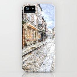 The Shambles York Snow Art iPhone Case