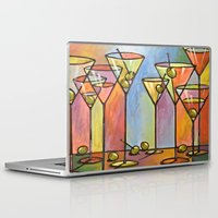 alcohol Laptop & iPad Skins featuring Martini Bar ... Abstract alcohol art by Amy Giacomelli