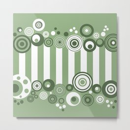 Circles and stripes Metal Print