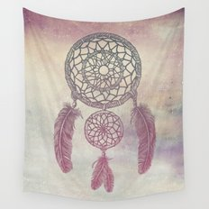 Double Dream Catcher (Rose) Wall Tapestry