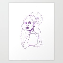 With the Moon So Full Art Print