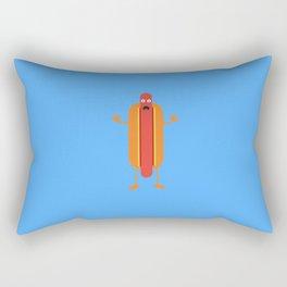 Hot Dog man Rectangular Pillow