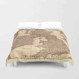 Map Of Great Britain 1631 Duvet Cover