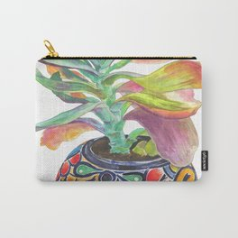 Flapjack Paddle Plant in Talavera Painting Carry-All Pouch