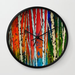 Birch Tree Stitch Wall Clock