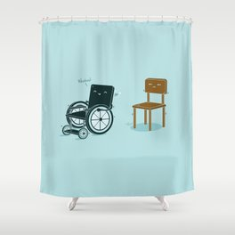 Enabled, Not Disabled Shower Curtain