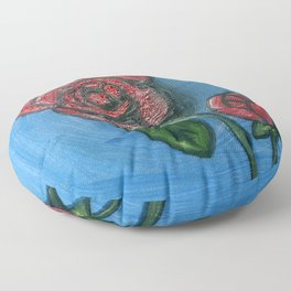 Two Roses Floor Pillow