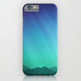Aurora Synthwave #10 iPhone Case
