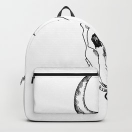 Line drawing of animal skull Backpack