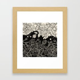 FLOWERS EBONY AND IVORY Framed Art Print