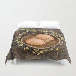 Golden eggs Duvet Cover