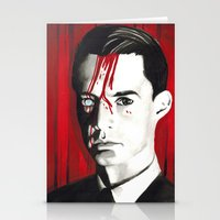dale cooper Stationery Cards featuring Agent Dale Cooper by Narnia Tattoos