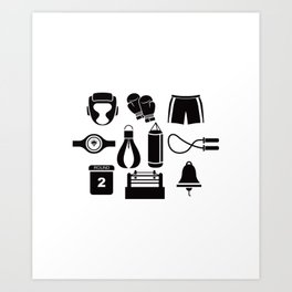 All The Things You Need To Become A Great Boxer Art Print