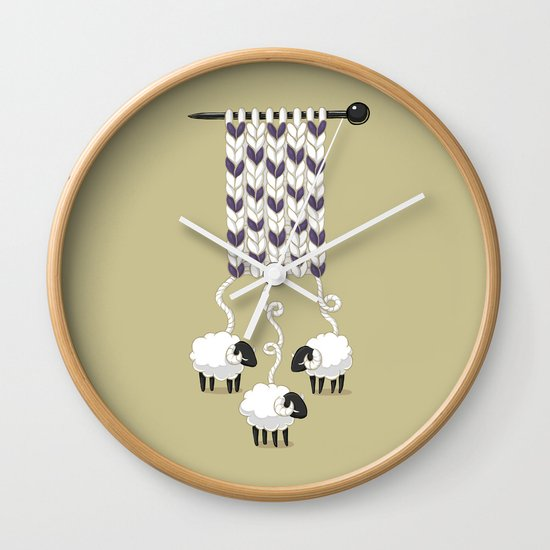 Wool Scarf Wall Clock