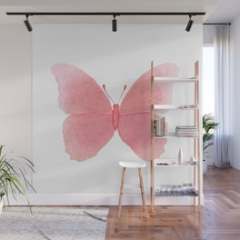 Watermelon pink butterfly Wall Mural