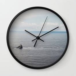 Lighthouse in the Sea Wall Clock