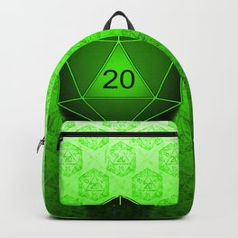 D20 All I Do Is Crit!  Green Ombre Backpack