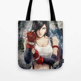 Final Fantasy VII Tifa Lockhart Painting based on Lady Zero's Cosplay Tote Bag