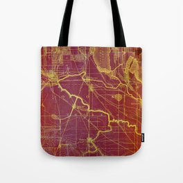 Calumet old vintage map year 1892 usa maps Tote Bag