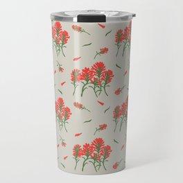 Floral-Indian Paintbrush-Gray Travel Mug