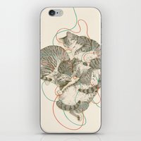 cats iPhone & iPod Skins featuring cats by Laura Graves