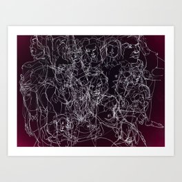 scribblesheet one red Art Print