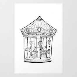 The Carousel - Circus fun #1 Art Print