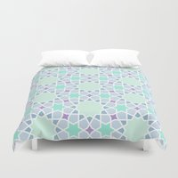 arabic Duvet Covers featuring Arabic pattern by tuditees