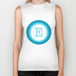 Blue letter E Biker Tank