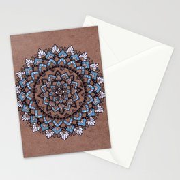 Mandala on Masonite II Stationery Cards