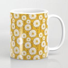 Small Harry Sunflower Shirt Flower Print Hippie Pop Art Floral Pattern Coffee Mug
