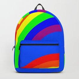Rainbow on Blue Backpack