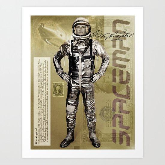 George Washington - Spaceman  Art Print