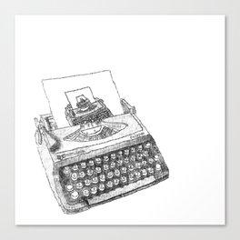 Typewritten Typewriter... writer... er... Canvas Print