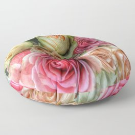 Roses - Pink and Cream Floor Pillow