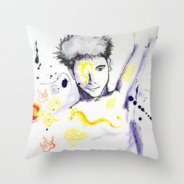 Flying Tattoo  Throw Pillow