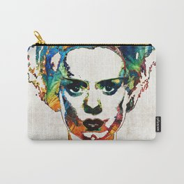 Frankenstein Bride Art - Colorful Monster Bride - By Sharon Cummings Carry-All Pouch