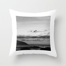 Sunsets at the Ocean Throw Pillow