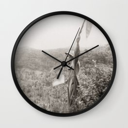 Flag Signals In The Jungle - Vintage Photo Wall Clock